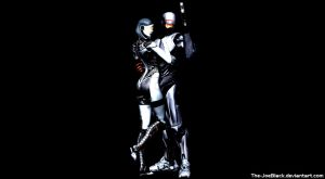 Robocop and EDI wallpaper by JoesHouseOfArt