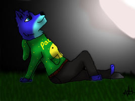 Foxy in the moonlight by wolfmad123