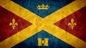 Kingdom of Albion Royal Flag Grunge [Fable3] by SyNDiKaTa-NP