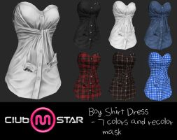 MStar Female Boy Shirt Dress by XNAMall