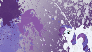 Rarity Splatter Wallpaper by brightrai