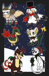 Pokemon Christmas Point Adopts .:CLOSED:. by Eraticated