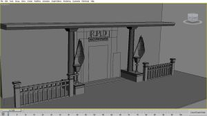 RACCOON POLICE STATION EXTERIOR W.I.P by Oo-FiL-oO