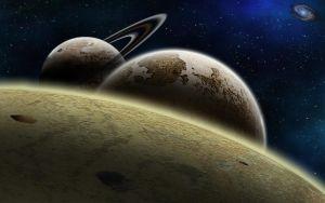 planets in a row by Johndoop