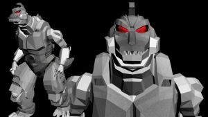 Mecha Godzilla II .obj for MMD conversion by kaxblastard