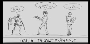 Ikaru and Best Friend Guy by p00se2