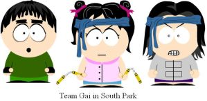 Team Gai in South Park by clammin910