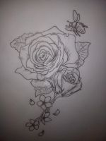 Flower Tattoo Design by Malitia-tattoo89