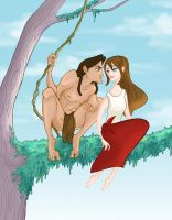 Tarzan and Personal Space by spicysteweddemon