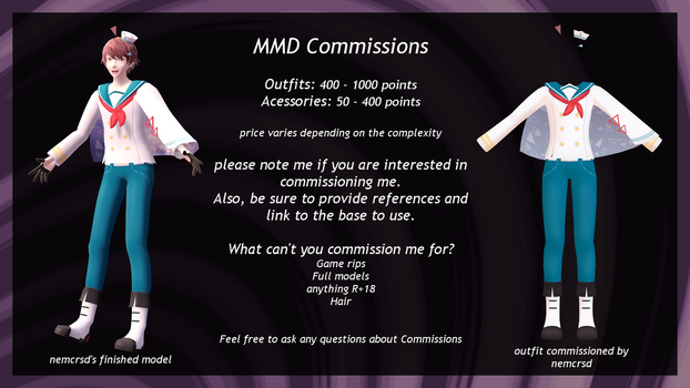 MMD Commissions by 0-0-Alice-0-0