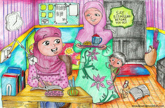 Kids Moslem Illustration by miokalove