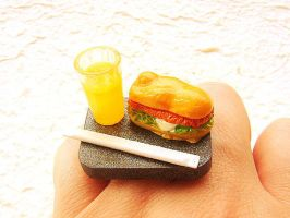 Sandwich Miniature Food Jewelry by souzoucreations