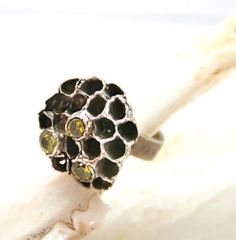 Sterling Silver Ring Real Wasp Nest by byrdldy