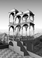 Escher - Impossible Structure by westernphilosopher