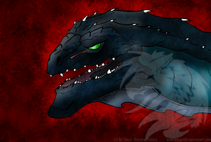 Zilla Headshot by Sashiryuu