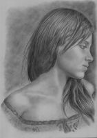 Spanish Woman Pencil Drawing by Martin-Lyne