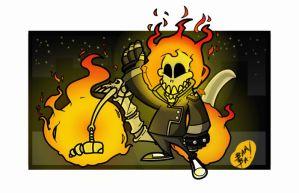 Lil Ghost Rider by 2BeanSoup