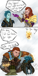 Norns and their manners by ScytheDancer