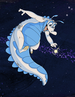 Space Gator by CoyoteEsquire