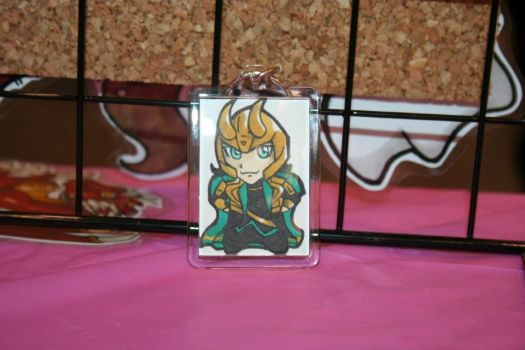 Loki Keychain by IndyScribbable