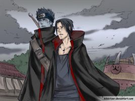 Itachi and Kisame to konoha color by synyster-gates-A7X