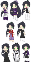 Chibi Shouren Outfits by touchofdestiny