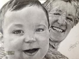 'Aaron and Nanny' - 2014 - (Drawing) by Stevegillettart