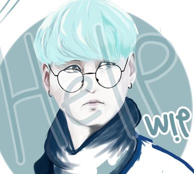 Min Yoongi (green hair) - WIP by MaggotPsycho115