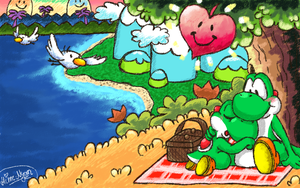 Lovely times on Yoshi's Island [Comm. Hime--Nyan] by LittleYoshi8