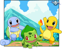 Shiny Starters by John55