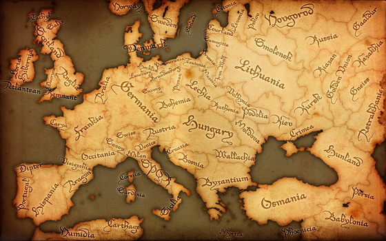 Fantasy Europe Map - Medieval by GTD-Orion