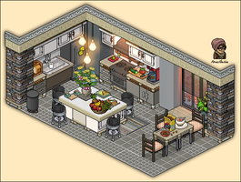 Apartment kitchen design by Cutiezor