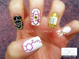 JeeA Lee's Nerdy Tees Nails by jeealee