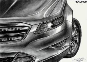 Ford Taurus Detail Drawing by toyonda