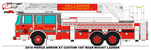 Hellshire Fire Dept. Truck 1 by MisterPSYCHOPATH3001