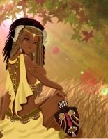 African princess warrior by mnkene