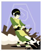 Rocking out with Toph by falsarius