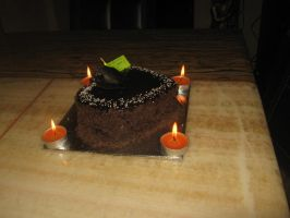 All Chocolate Birthday Cake by AbstractWater