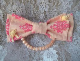 hime lolita ribbon brooch by missyellowlove