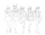 Sailor Scouts Protptype :ink: by Emily-Fay