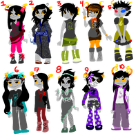 Homestuck Adoptables! [STILL OPEN as of 6-24-2014] by Enya-Adoptables