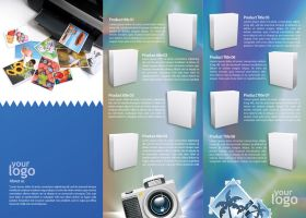 3 fold product brochure by Lemongraphic
