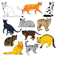 Cat Adoptables- four Left- by ObitoUchihaNii