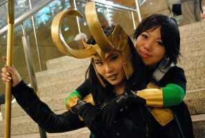 LADY LOKI n KID LOKI by fuuyukida