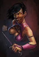 Mileena scetch by Reiamina