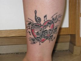 musical heart tattoo by navy83girl