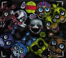 FNAF 2- Too late, they're already here +SPEEDPAINT by Al-ix