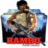 Rambo the First Blood Folder Icon by gdmep