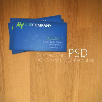Blue Business Card PSD by Martz90