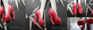 Monster High Shoes - Ruby Red by TifaTofu